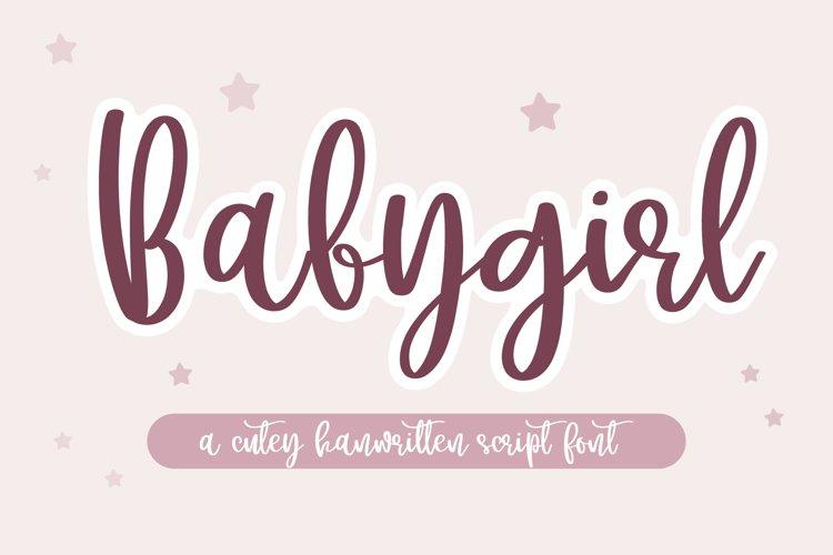 Babygirl- A cutey handwritten script font example image 1