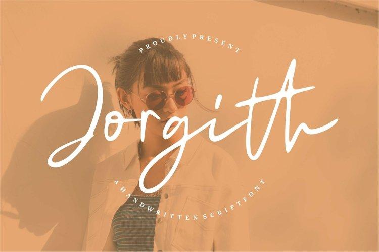 Web Font Jorgith - A Handwritten Script Font example image 1