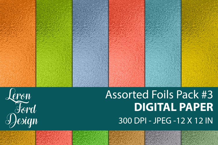 Assorted Foil Textures Pack #3 Digital Paper example image 1