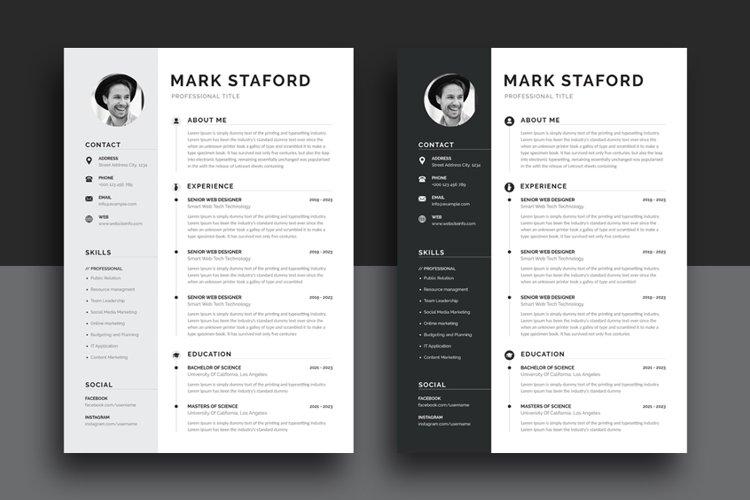 Resume/CV Office Word Templates