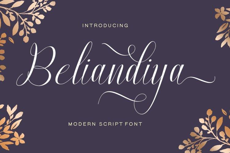 Beliandiya Script example image 1