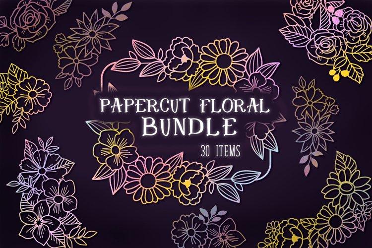 Papercut Floral Bundle- 30 SVG items