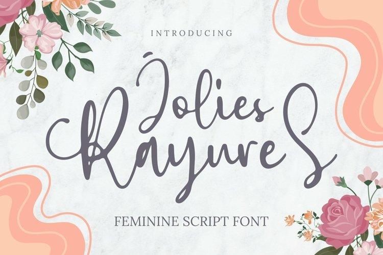 Web Font Jolies Rayures Font example image 1