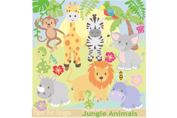 Jungle Animals Clipart example image 1