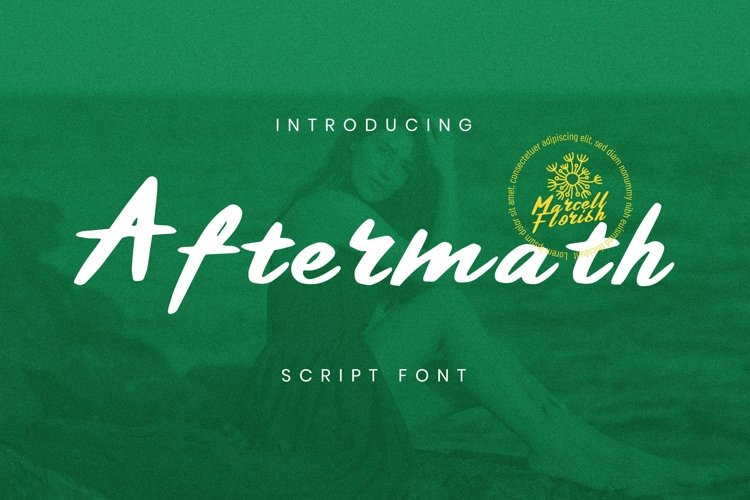 Web Font Aftermath Font example image 1