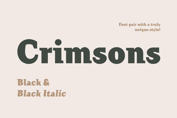 Crimsons — Black & Black Italic example image 1
