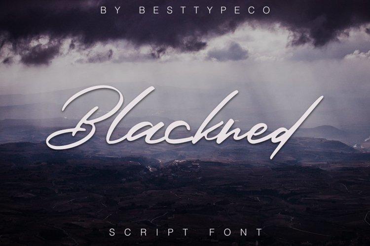 Web Font Blackned example image 1