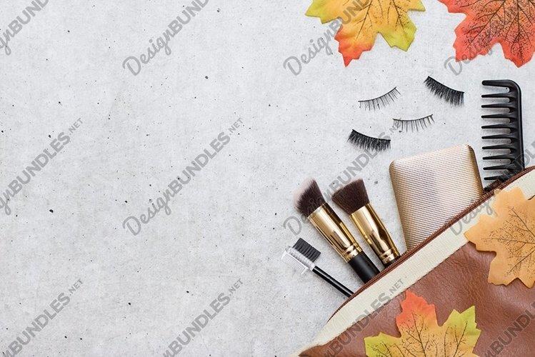 Decorative cosmetics, accessories, autumn leaves example image 1