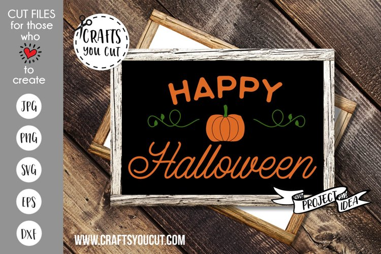 Happy Halloween Cut File example image 1