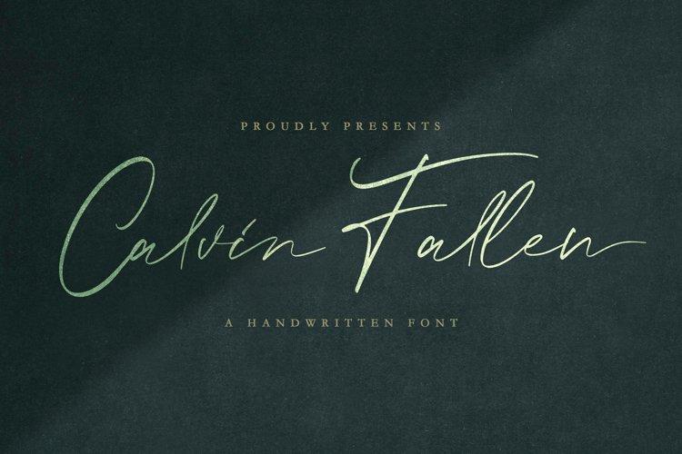Calvin Fallen - Handwritten Signature Font example image 1