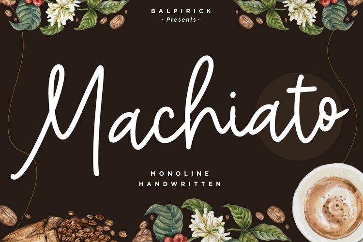 Machiato Monoline Handwritten Font example image 1
