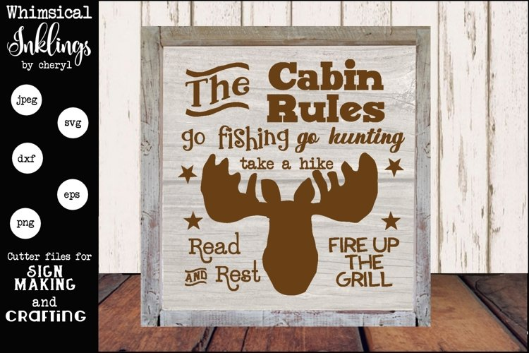 Cabin Rules 3 SVG example image 1