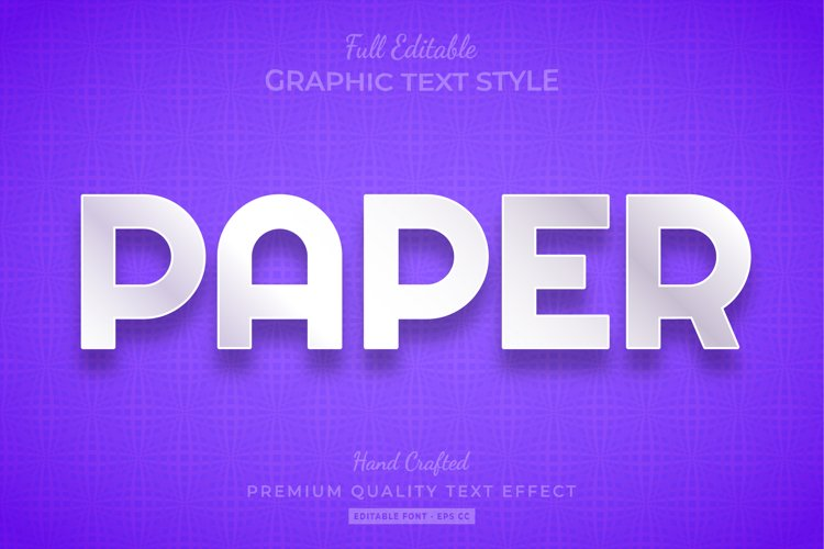 Paper 3d Text Style Effect Premium example image 1