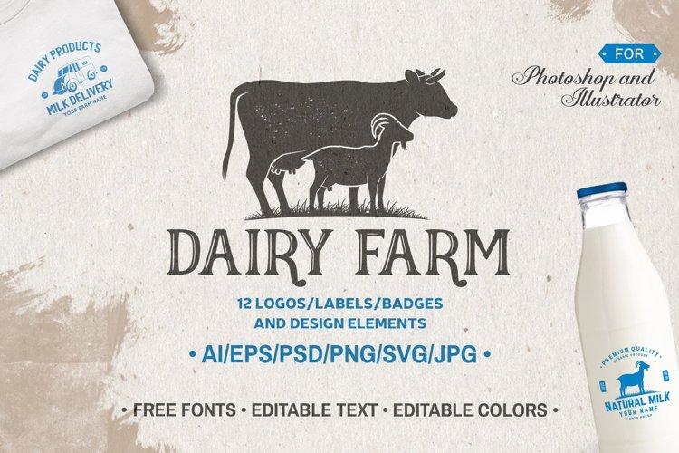 Dairy Farm Logos/Labels/Badges