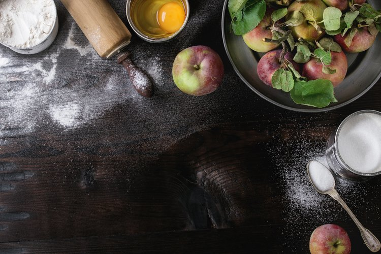 Ingredients for making apple cake example image 1