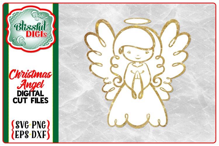 Christmas Angel - Digital Cut File - SVG Religious