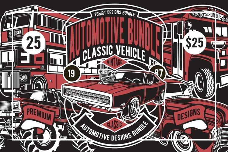 25 Automotive Tshirt Designs Bundle
