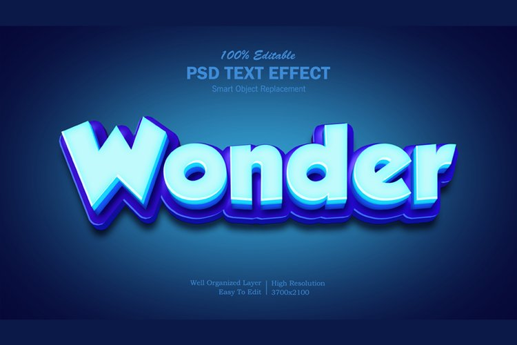 3D Wonder Text Effect example image 1