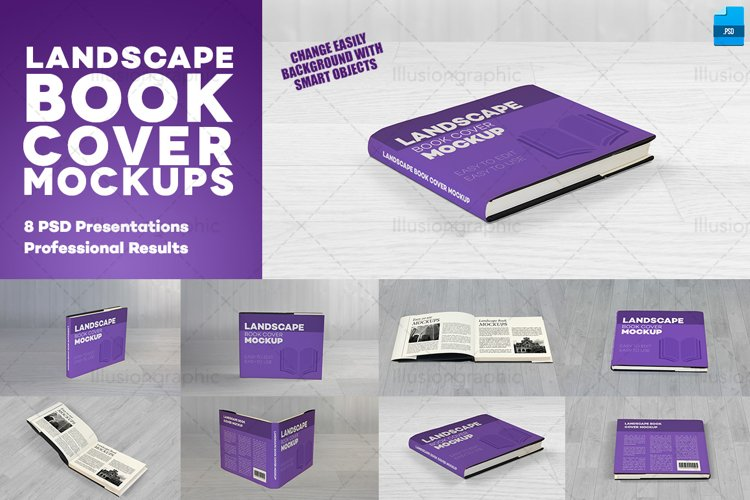 Photorealistic Landscape Book Cover Mockups example image 1