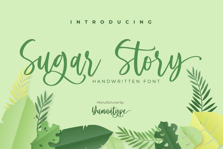 Sugar Story-Sweet Handwritten Font example image 1