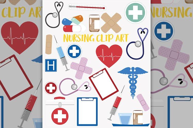 Nursing healthcare clipart set