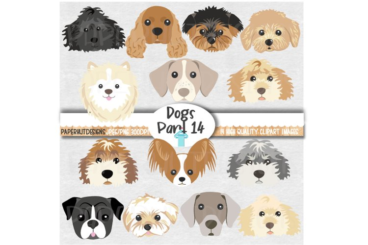 Dog Faces Clipart Doodle and Poo Dog Face Illustrations