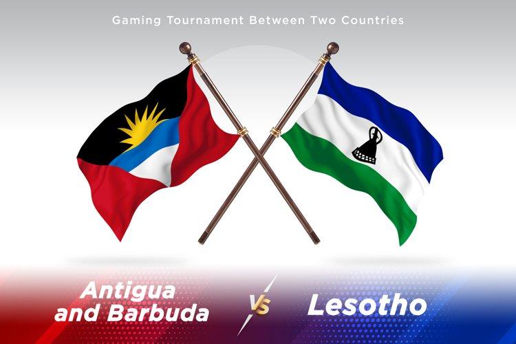Antigua vs Lesotho Two Flags example image 1