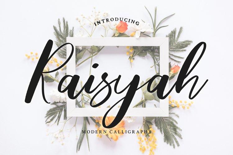 Raisyah Calligraphy Script Font example image 1