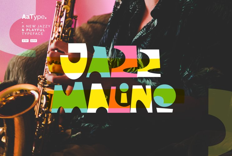 Jazz Malino - a Jazzy & Playful Font