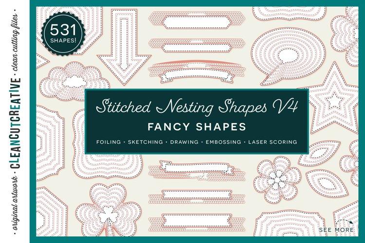 Stitched Nesting Shapes V4 Fancy Shapes | foil sketch SVG