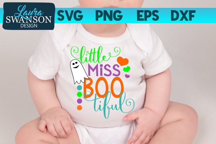 Little Miss Boo - Little Miss Beautiful SVG, PNG, EPS, DXF example image 1