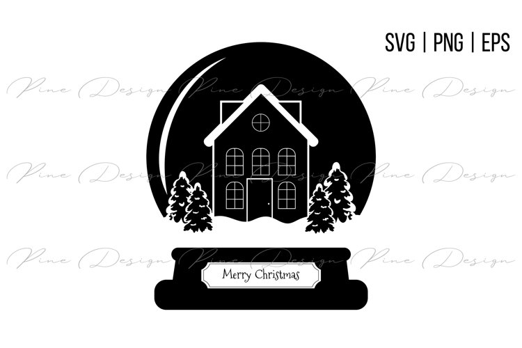 Snow Globe SVG | Christmas SVG example image 1