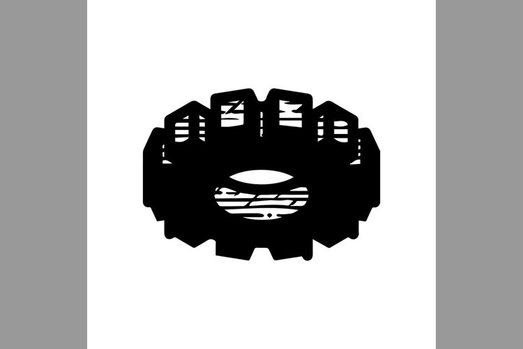 hand drawn gear symbol line icon, Vector Illustration example image 1