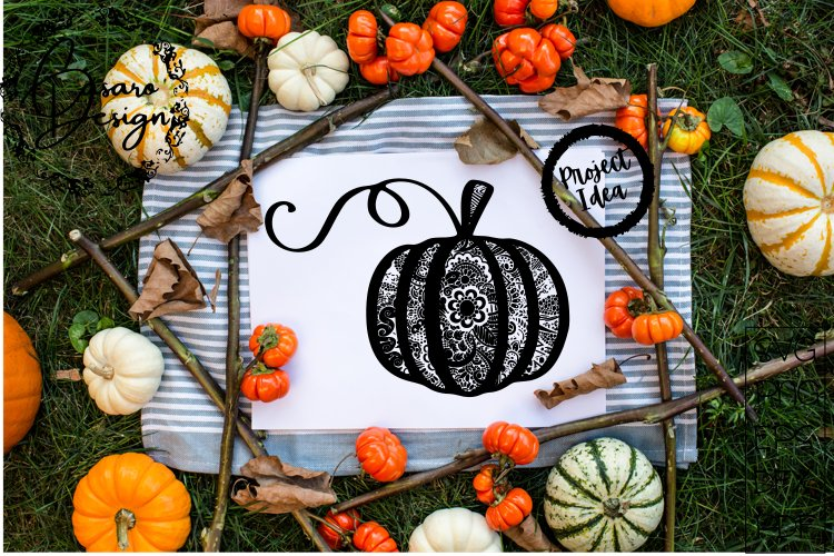 Pumpkin Zentangle! Svg, Png, Pdf, Eps and Dxf File Included
