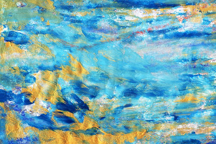 abstract watercolor textural blue yellow background example image 1