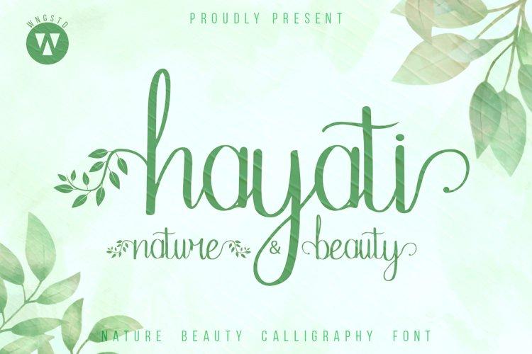 Hayati Nature Beauty - Handwritten calligraphy example image 1
