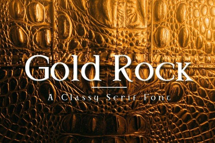 Web Font Gold Rock example image 1