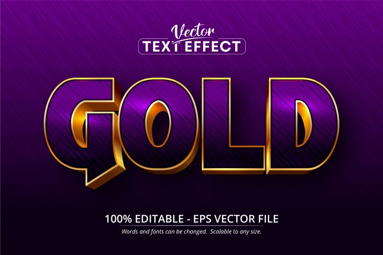 Gold text, shiny gold style editable text effect example image 1