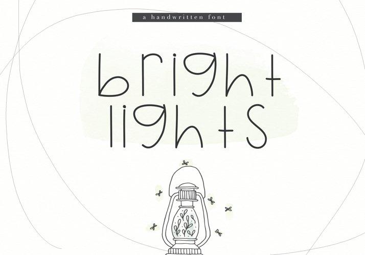 Bright Lights - A Cute Handwritten Font example image 1
