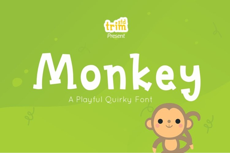 Monkey - Quirky Playful Font example image 1