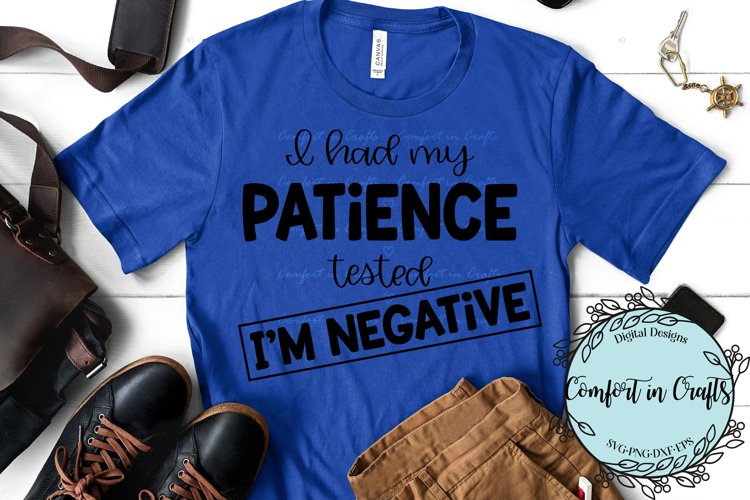 Patience Tested Negative SVG example image 1