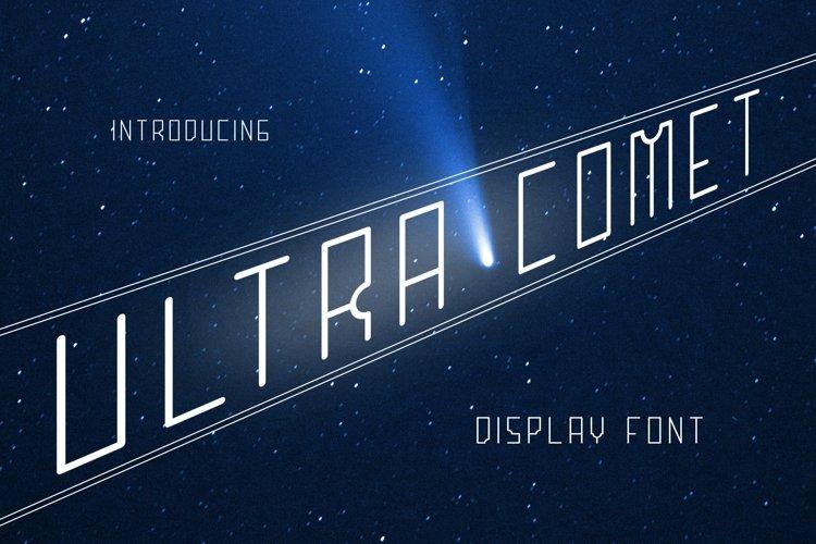 Web Font ULTRA COMET Font example image 1