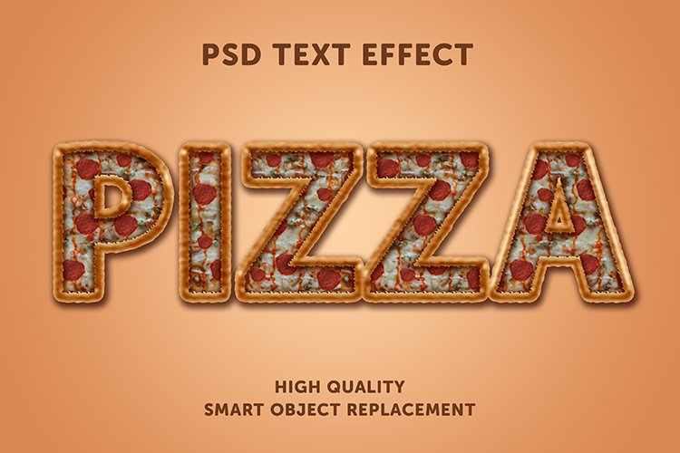 Pizza style text effect