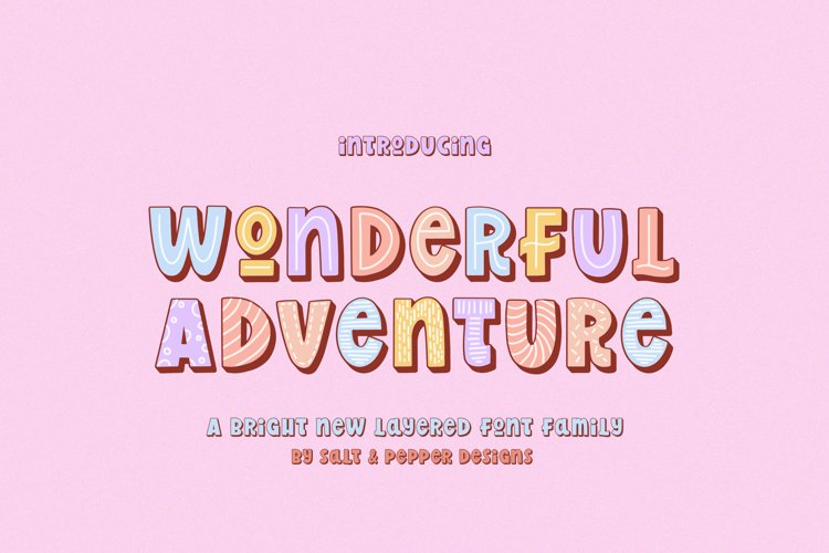 Wonderful Adventure Font Family example image 1