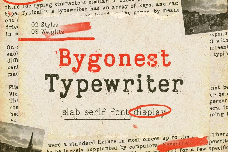 Bygonest - Old Typewriter Font example image 1