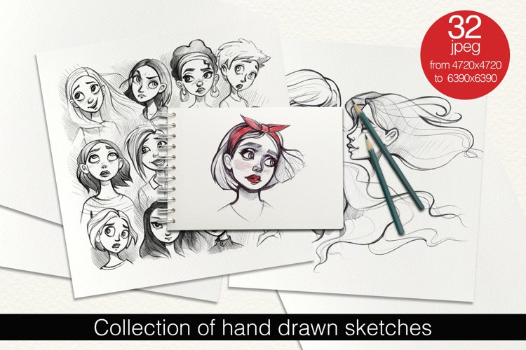Collection of Hand Drawn Sketches