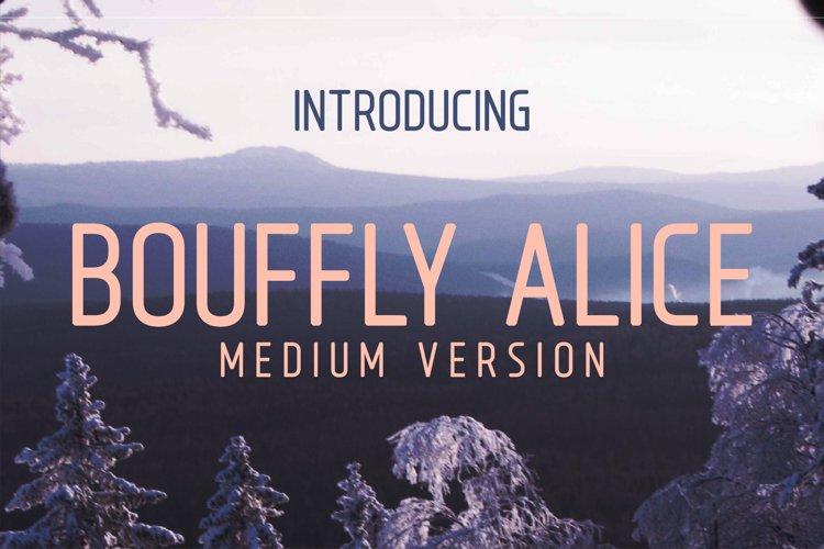 Bouffly Alice Medium Versionl Elegant font sans serif example image 1