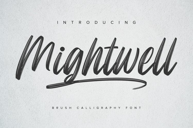 Mightwell - Brush Font example image 1
