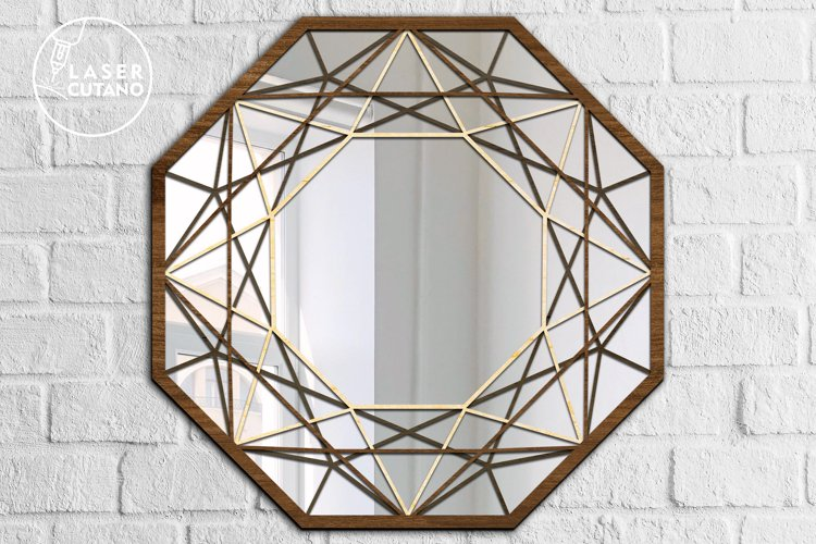 Multilayer Cut File Round Wall Mirrow Frame example 5