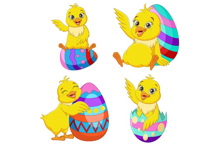 Cute Chicks with Easter Eggs Collection